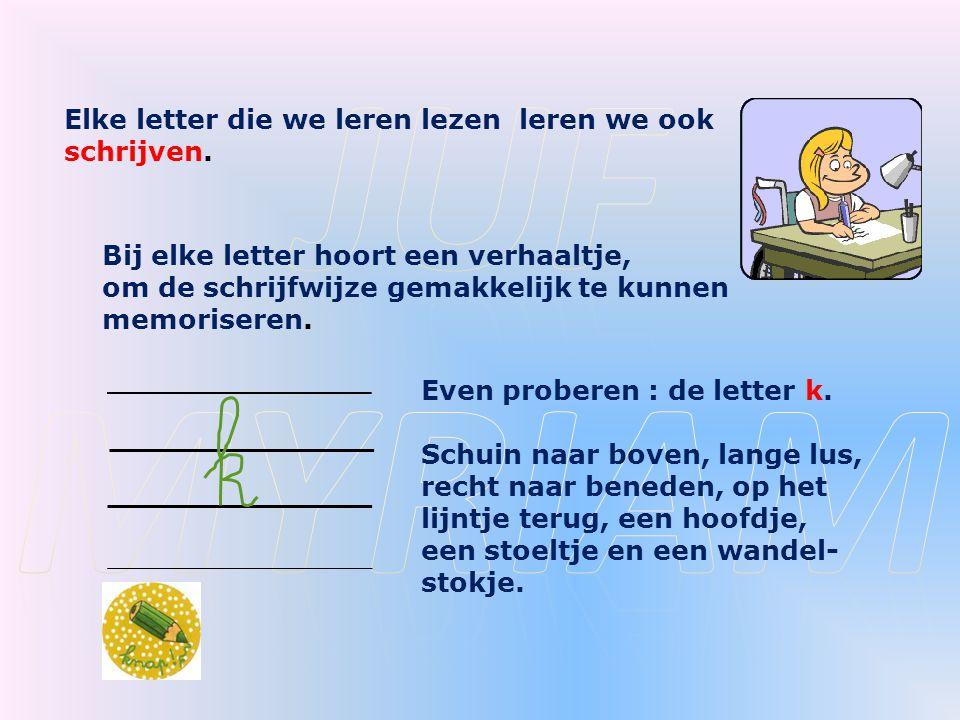 Elke letter die we leren lezen leren we ook schrijven.