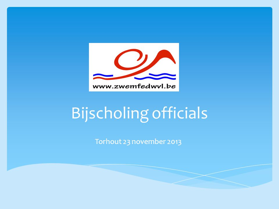 Bijscholing officials Torhout 23 november 2013
