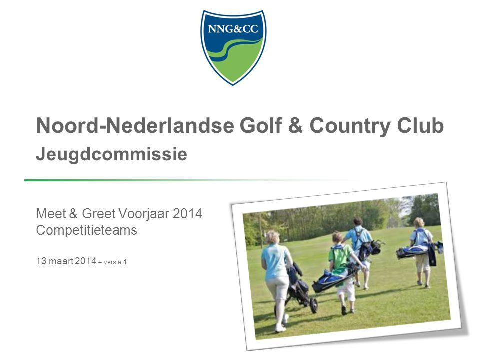 Noord-Nederlandse Golf & Country Club Jeugdcommissie Meet & Greet Voorjaar 2014 Competitieteams 13 maart 2014 – versie 1