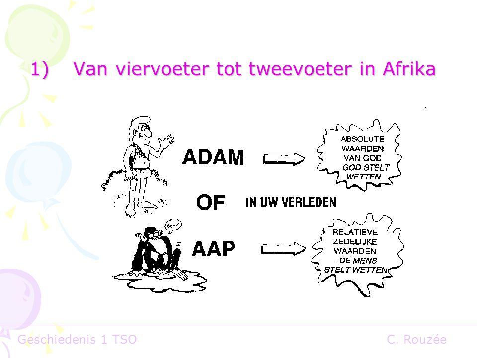 Geschiedenis 1 TSOC. Rouzée 1)Van viervoeter tot tweevoeter in Afrika