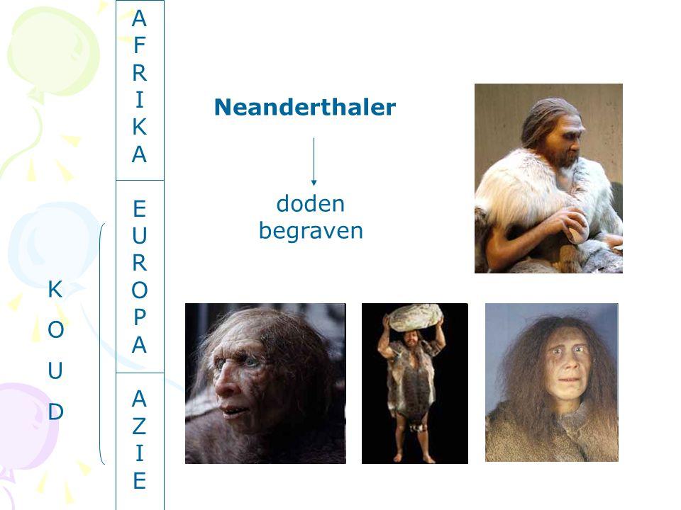 AFRIKAEUROPAAZIEAFRIKAEUROPAAZIE Neanderthaler doden begraven KOUDKOUD