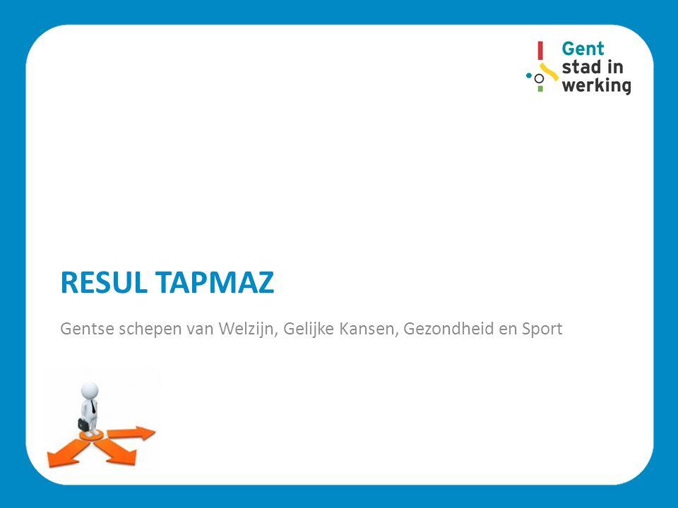RESUL TAPMAZ Gentse schepen van Welzijn, Gelijke Kansen, Gezondheid en Sport