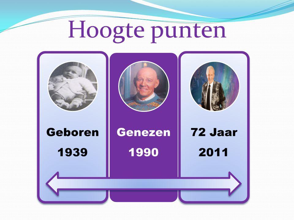 Geboren 1939 Genezen 1990 72 Jaar 2011 Hoogte punten