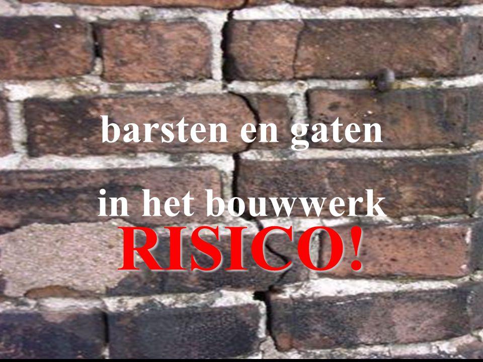 61 barsten en gaten in het bouwwerk RISICO!