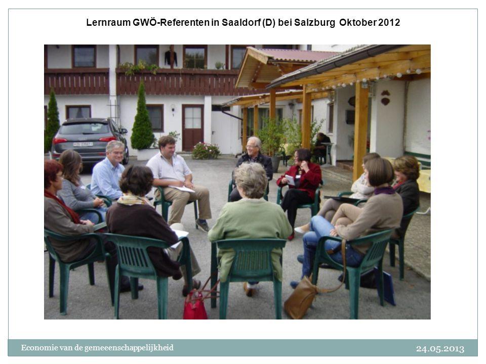 24.05.2013 Economie van de gemeeenschappelijkheid Lernraum GWÖ-Referenten in Saaldorf (D) bei Salzburg Oktober 2012