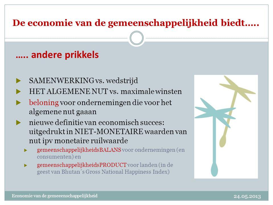 De economie van de gemeenschappelijkheid is een economisch model voor de toekomst Alternatieven voor het bestaande economische systeem.