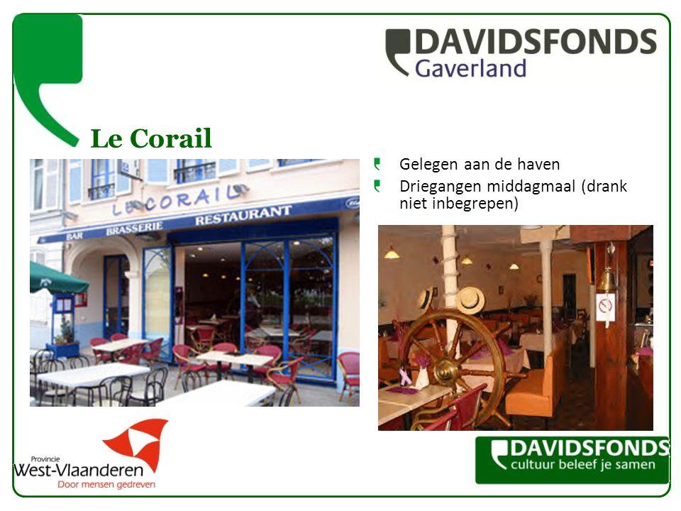 Le Corail Gelegen aan de haven Driegangen middagmaal (drank niet inbegrepen)