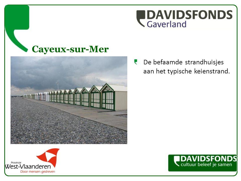 Cayeux-sur-Mer De befaamde strandhuisjes aan het typische keienstrand.