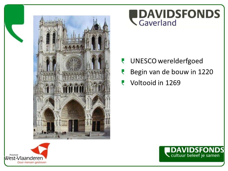 UNESCO werelderfgoed Begin van de bouw in 1220 Voltooid in 1269