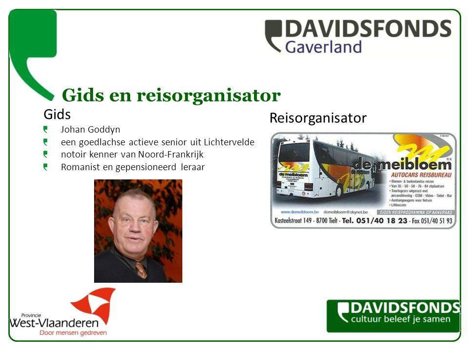 Gids en reisorganisator Gids Johan Goddyn een goedlachse actieve senior uit Lichtervelde notoir kenner van Noord-Frankrijk Romanist en gepensioneerd l