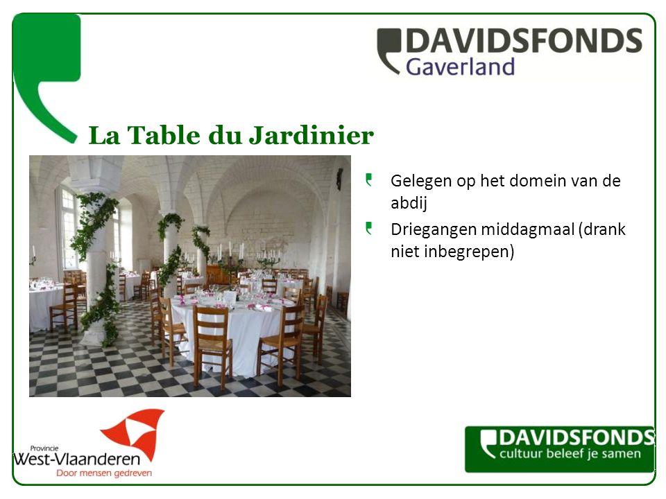 La Table du Jardinier Gelegen op het domein van de abdij Driegangen middagmaal (drank niet inbegrepen)