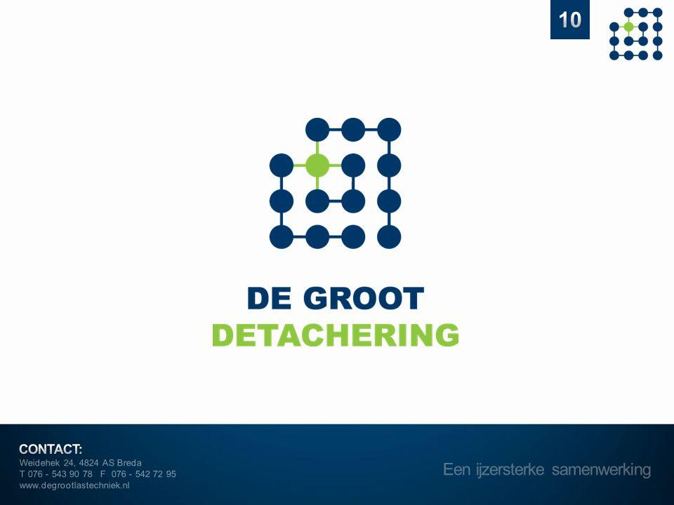 Weidehek 24, 4824 AS Breda T 076 - 543 90 78 F 076 - 542 72 95 www.degrootlastechniek.nl