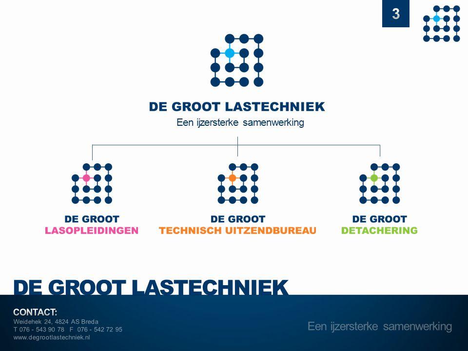 Weidehek 24, 4824 AS Breda T 076 - 543 90 78 F 076 - 542 72 95 www.degrootlastechniek.nl Initiatief nemen Intern Als ik een kans zie, een goed idee heb of een knelpunt/onvolkomenheid signaleer, doe ik er iets mee.