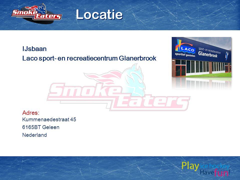 IJsbaan Laco sport- en recreatiecentrum Glanerbrook Adres: Kummenaedestraat 45 6165BT Geleen Nederland Locatie