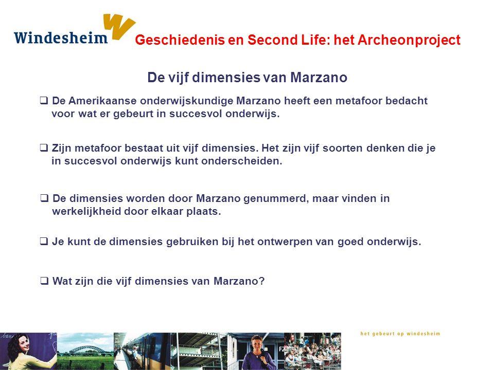  De Amerikaanse onderwijskundige Marzano heeft een metafoor bedacht voor wat er gebeurt in succesvol onderwijs.  Zijn metafoor bestaat uit vijf dime