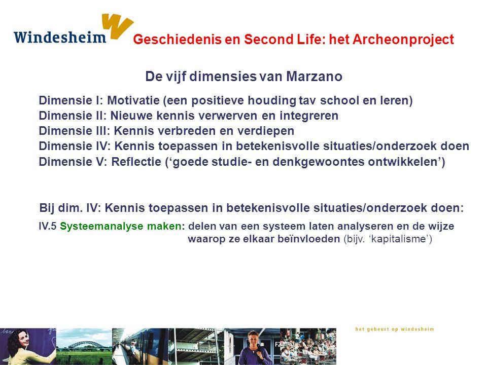 Interventie door de tijden heen: Geschiedenis en Second Life: het Archeonproject Er is sprake van een slecht seizoen Wat doen de eerste boeren.