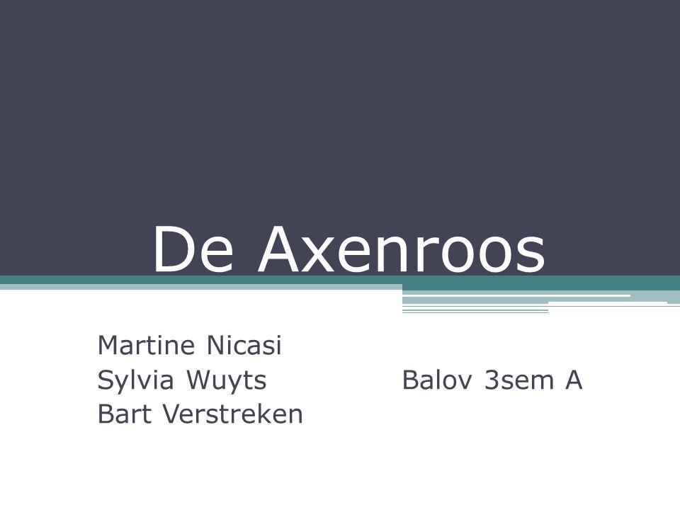 De Axenroos Martine Nicasi Sylvia Wuyts Balov 3sem A Bart Verstreken