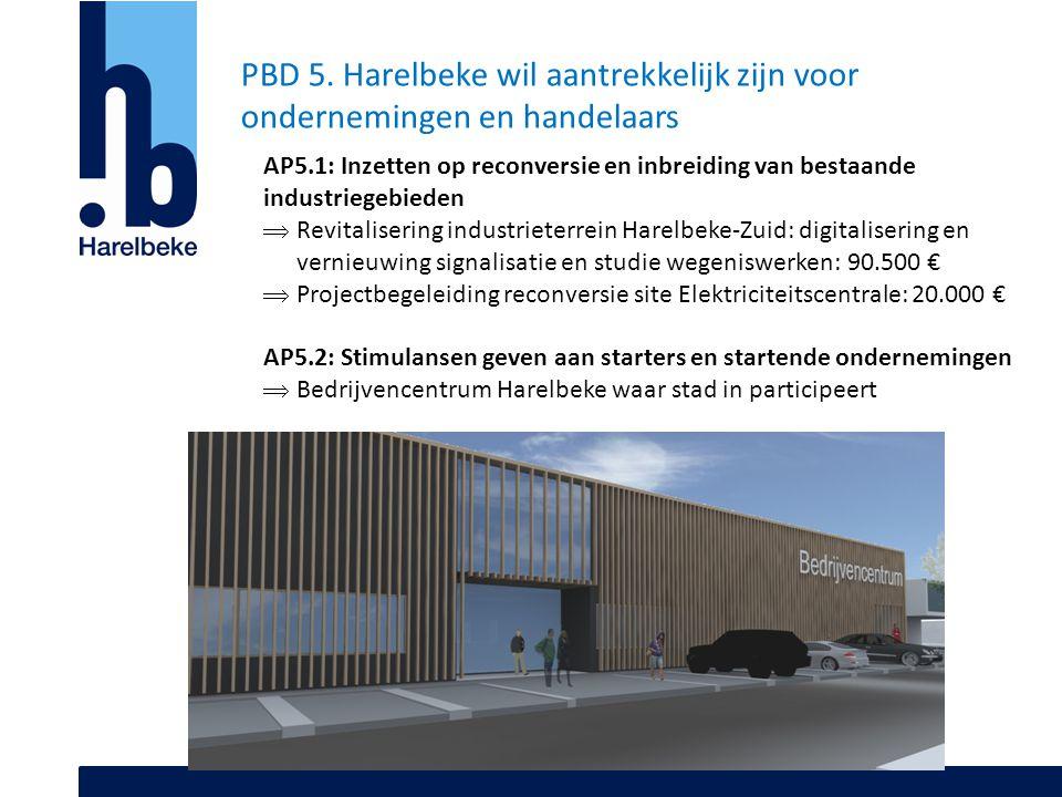 PBD 5. Harelbeke wil aantrekkelijk zijn voor ondernemingen en handelaars AP5.1: Inzetten op reconversie en inbreiding van bestaande industriegebieden