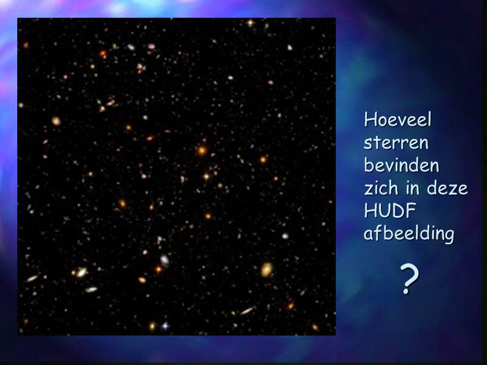 Hoeveel sterren bevinden zich in deze HUDF afbeelding ?