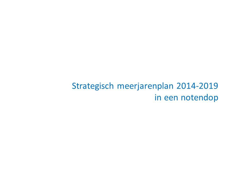 Strategisch meerjarenplan 2014-2019 in een notendop