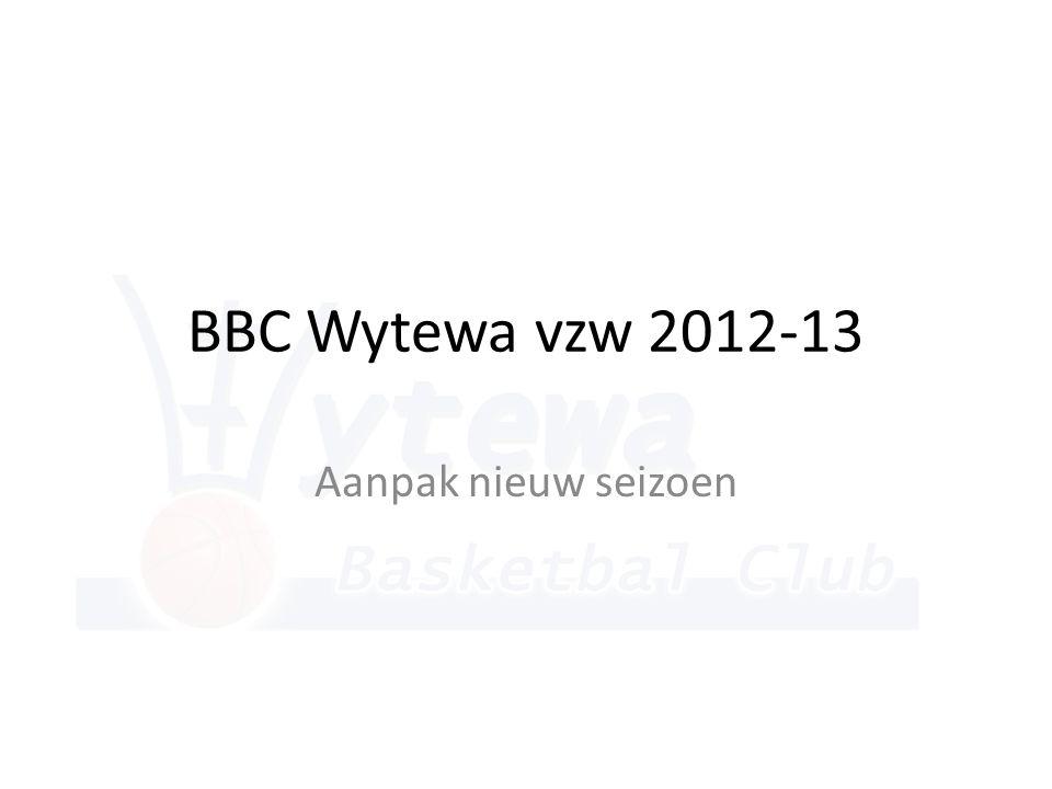 BBC Wytewa vzw 2012-13 Aanpak nieuw seizoen