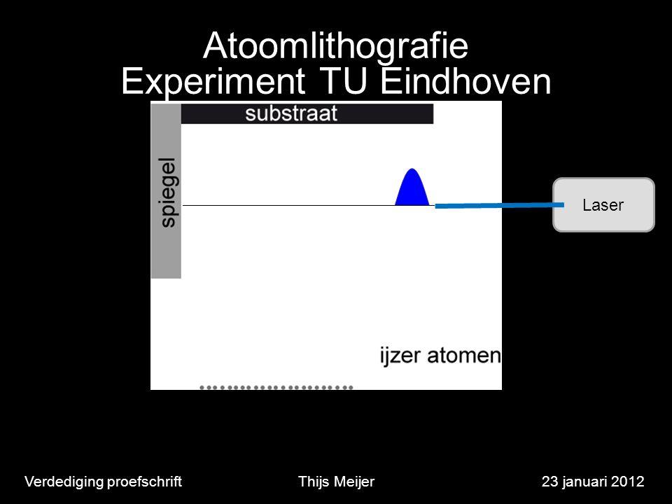 Verdediging proefschriftThijs Meijer23 januari 2012 Laser Atoomlithografie Experiment TU Eindhoven