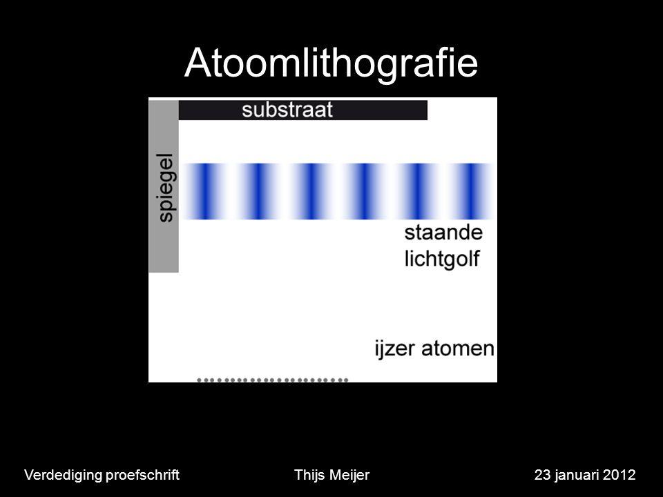 Atoomlithografie Verdediging proefschriftThijs Meijer23 januari 2012