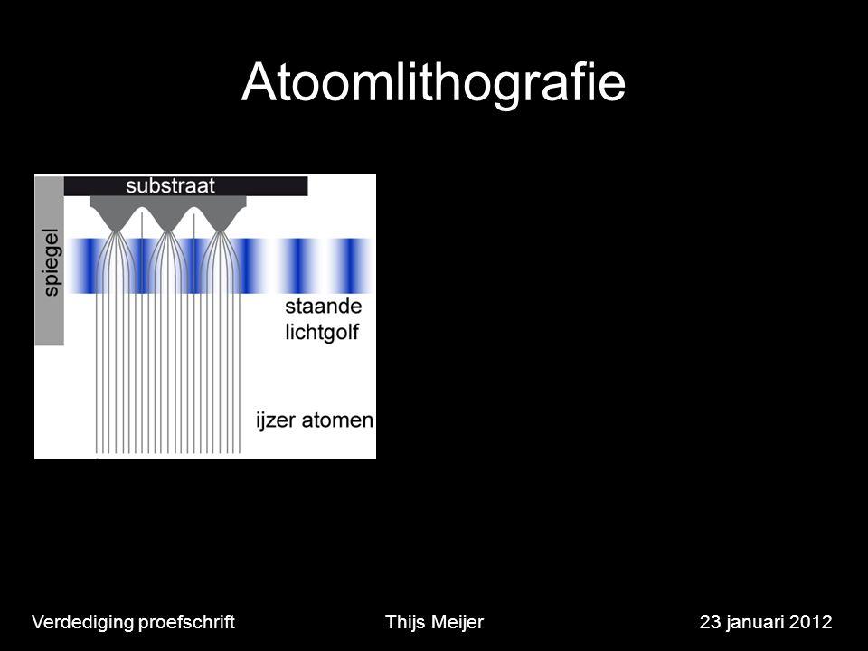 Verdediging proefschriftThijs Meijer23 januari 2012 Atoomlithografie