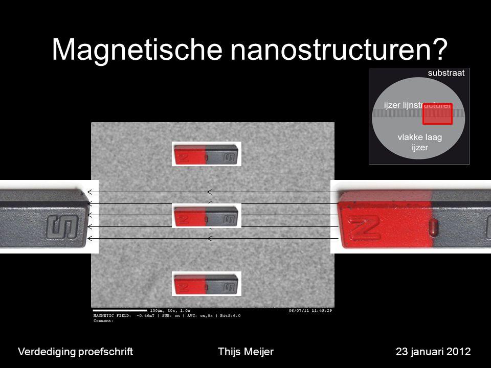 Magnetische nanostructuren? Verdediging proefschriftThijs Meijer23 januari 2012