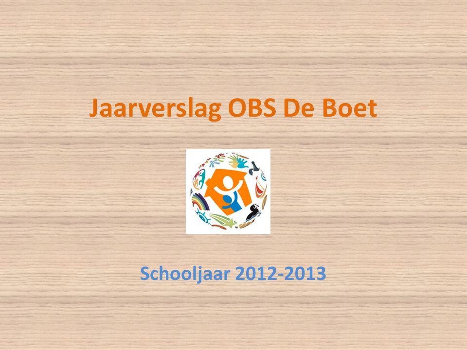 Jaarverslag OBS De Boet Schooljaar 2012-2013