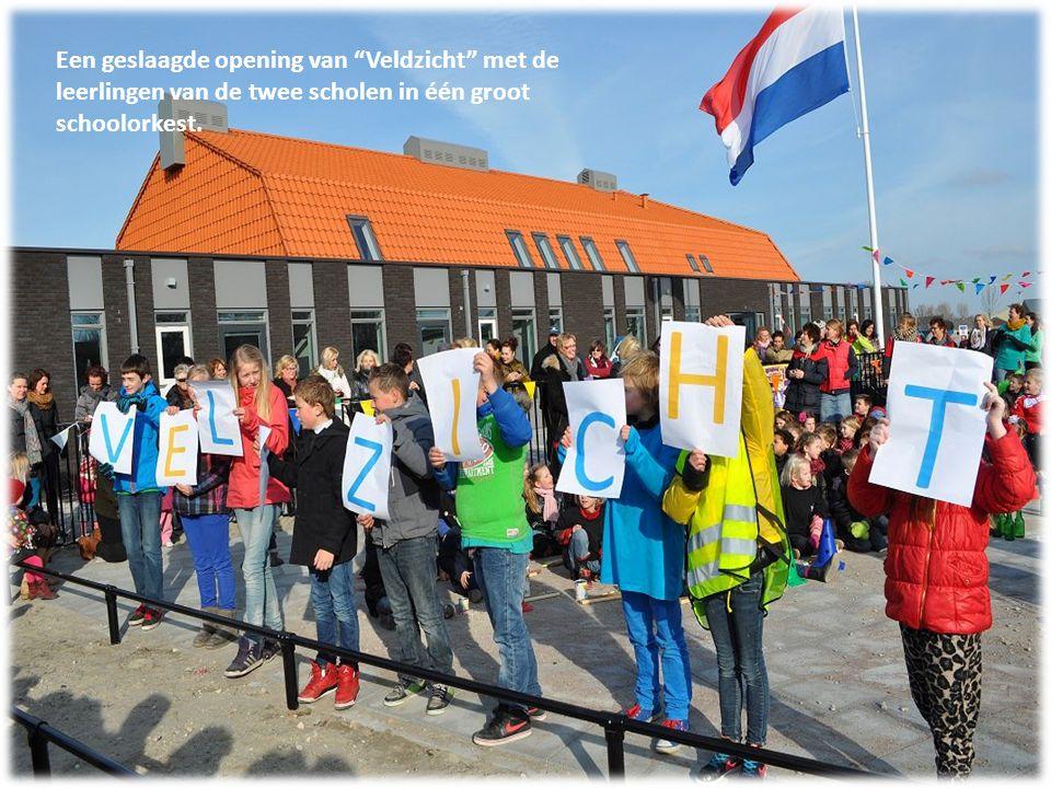 Een geslaagde opening van Veldzicht met de leerlingen van de twee scholen in één groot schoolorkest.
