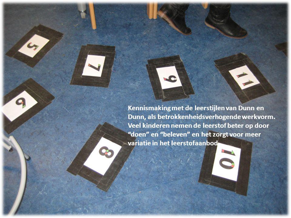 Kennismaking met de leerstijlen van Dunn en Dunn, als betrokkenheidsverhogende werkvorm.