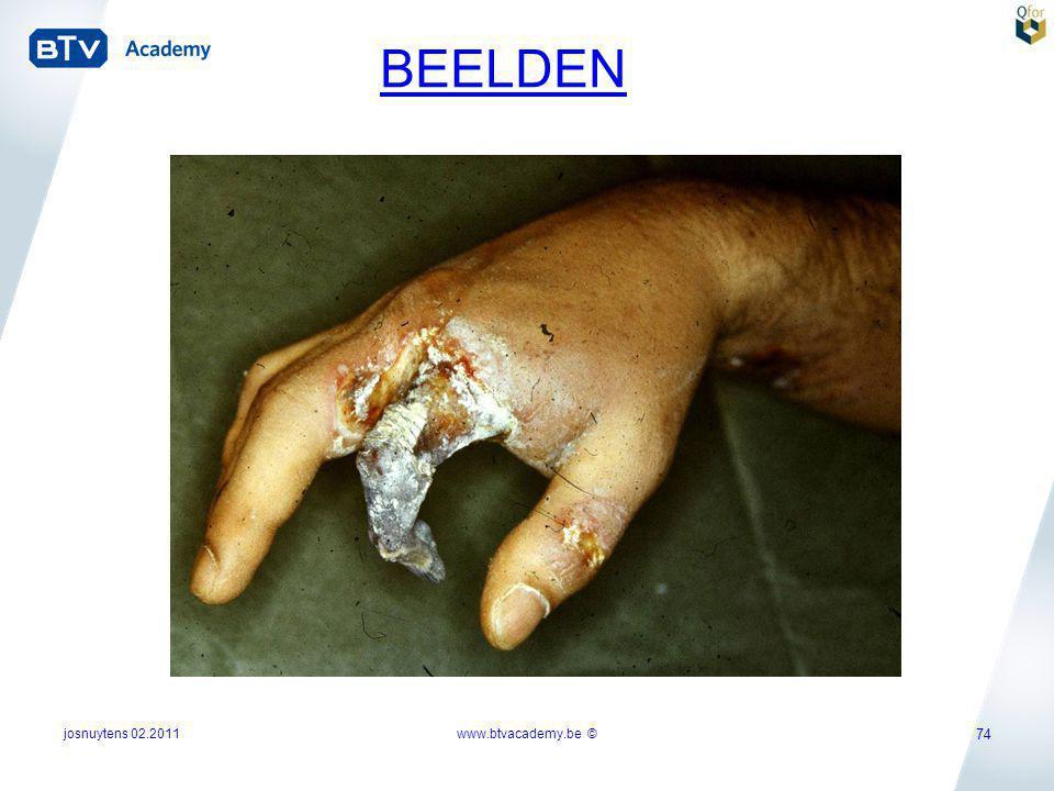 josnuytens 02.2011www.btvacademy.be © 74 BEELDEN