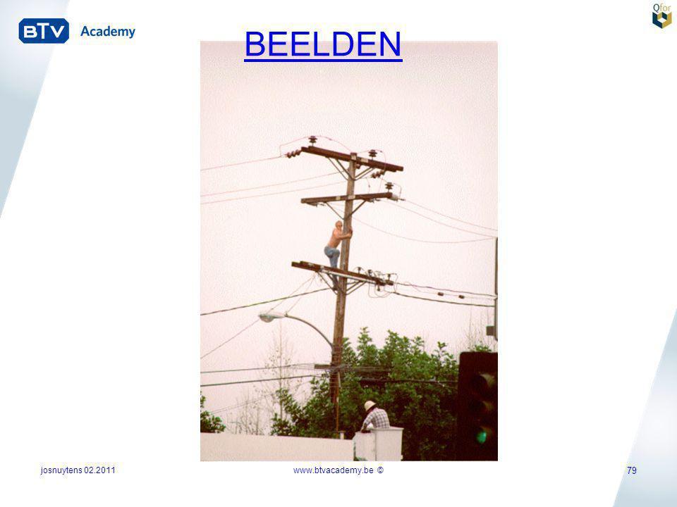 josnuytens 02.2011 79 www.btvacademy.be © BEELDEN