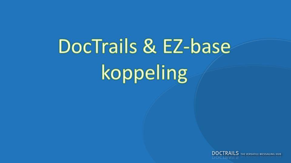 LEVERANCIERGROOTHANDEL De groothandel maakt een order opDe order is onvolledig De order wordt via DocTrails naar EZ-base gestuurd