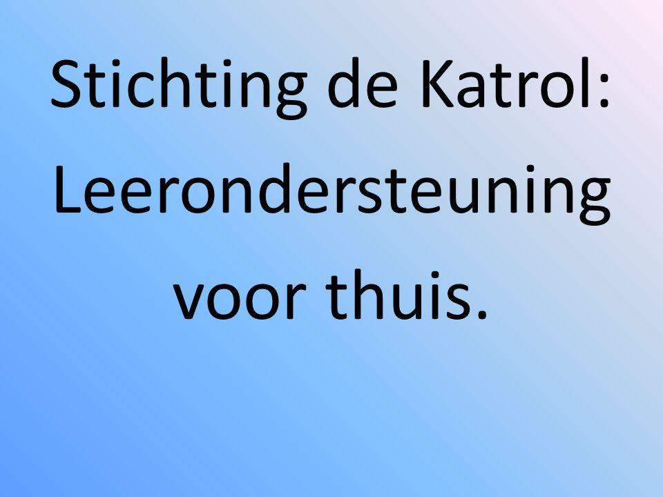 Stichting de Katrol: Leerondersteuning voor thuis.