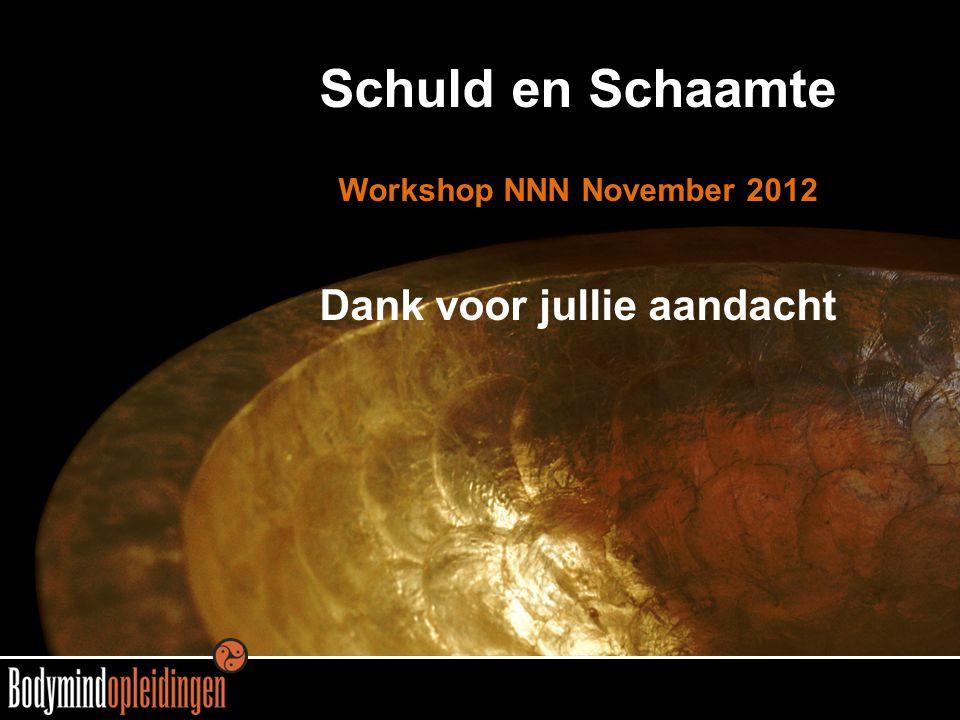 Schuld en Schaamte Workshop NNN November 2012 Dank voor jullie aandacht