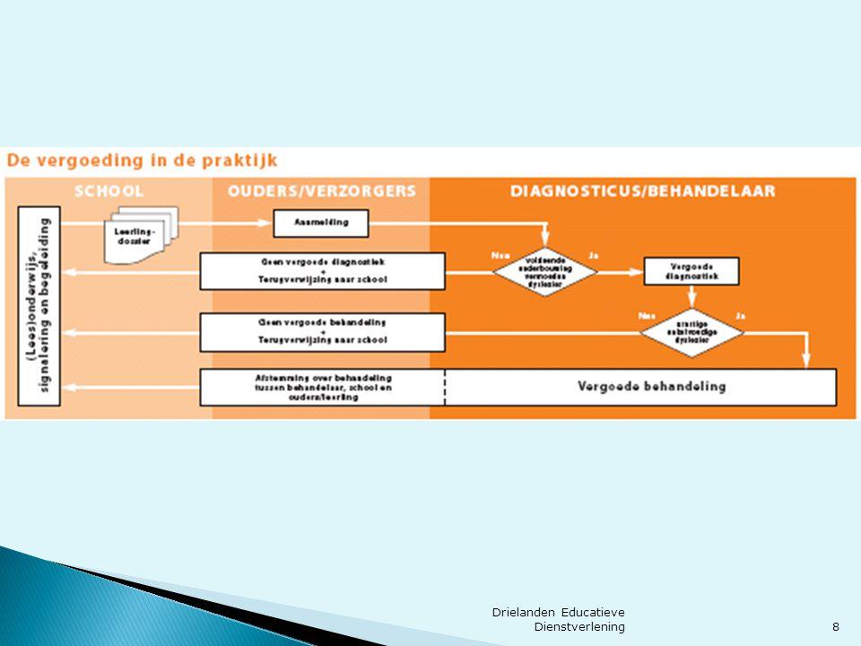 9 Poortwachtersfunctie  Werken volgens protocol leesproblemen en dyslexie:Continuüm van zorg  Groep 2  Groep 3 en verder ◦ Meer instructie ◦ Meer leestijd ◦ Leesplezier Drielanden Educatieve Dienstverlening