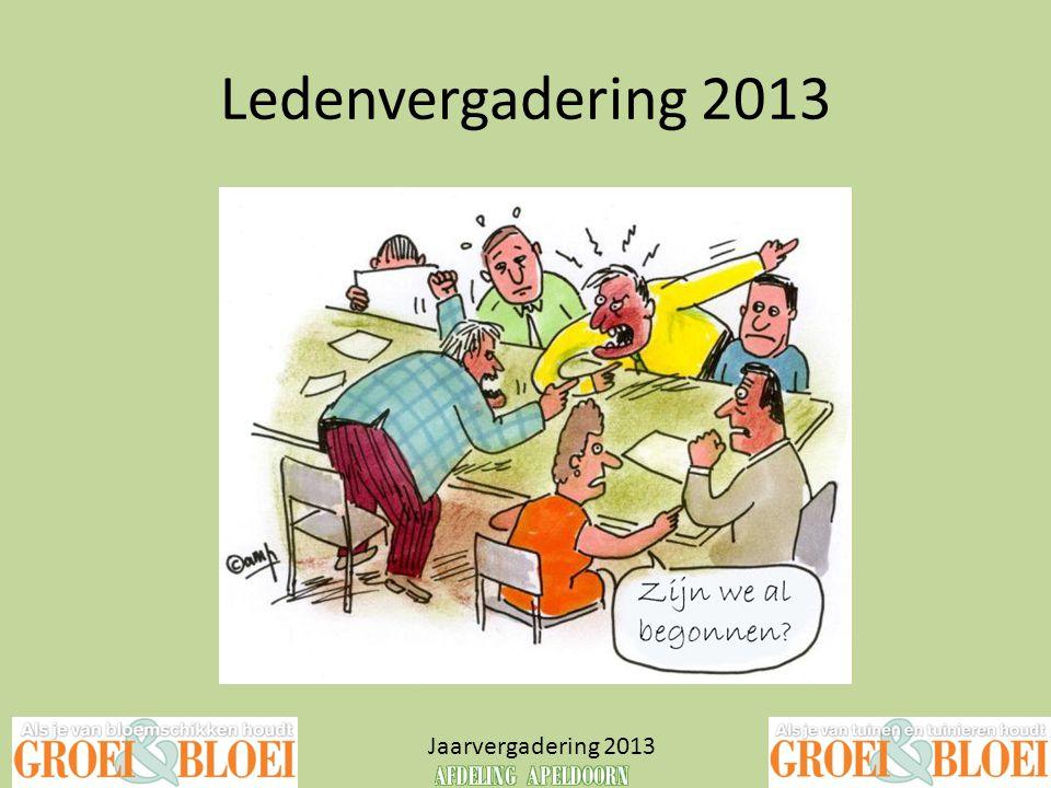 Opening Jaarvergadering 2013
