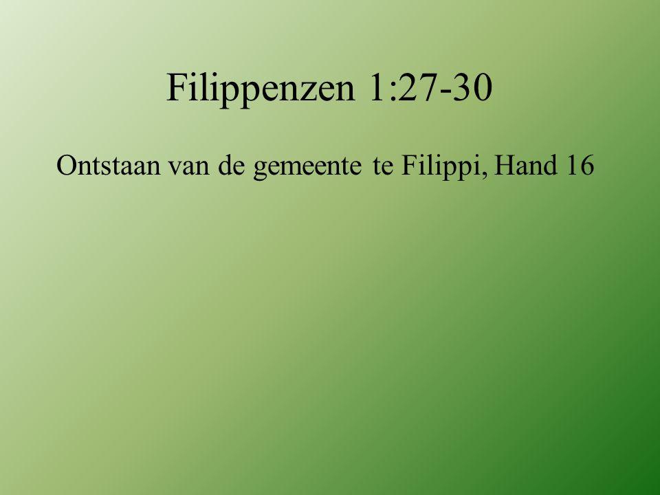 Ontstaan van de gemeente te Filippi, Hand 16