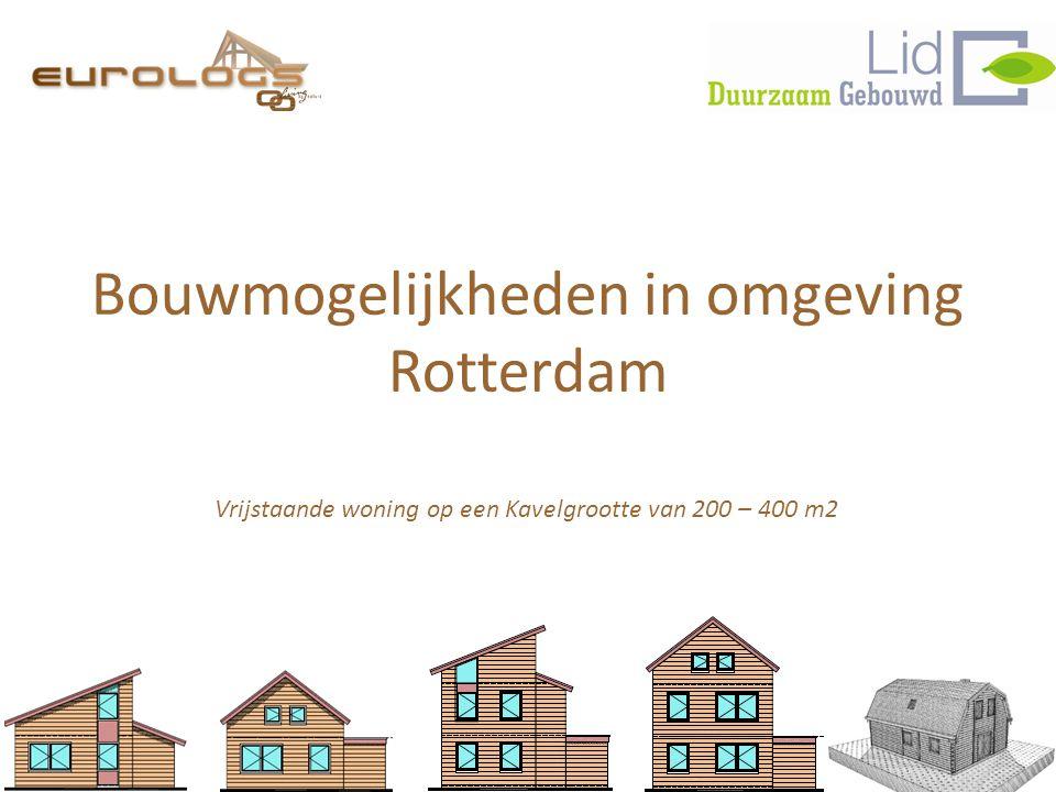 Bouwmogelijkheden in omgeving Rotterdam Vrijstaande woning op een Kavelgrootte van 200 – 400 m2