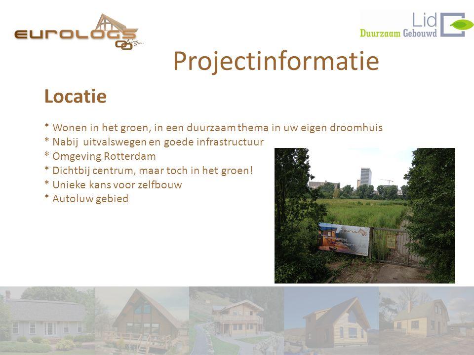 Projectinformatie Locatie * Wonen in het groen, in een duurzaam thema in uw eigen droomhuis * Nabij uitvalswegen en goede infrastructuur * Omgeving Rotterdam * Dichtbij centrum, maar toch in het groen.