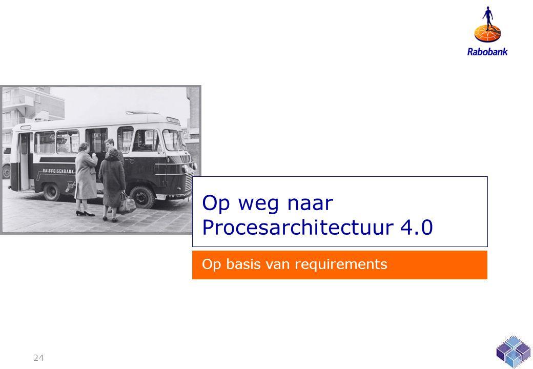 Op weg naar Procesarchitectuur 4.0 Op basis van requirements 24