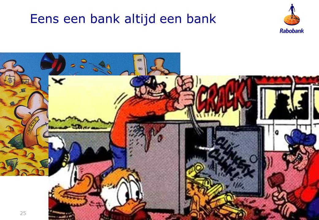 Eens een bank altijd een bank 25