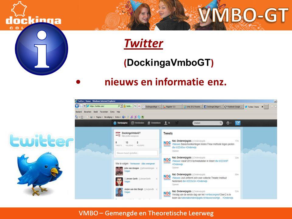 VMBO – Gemengde en Theoretische Leerweg Facebook ( DockingaCollege-VmboGT) • nieuws en informatie, foto's, filmpjes enz.