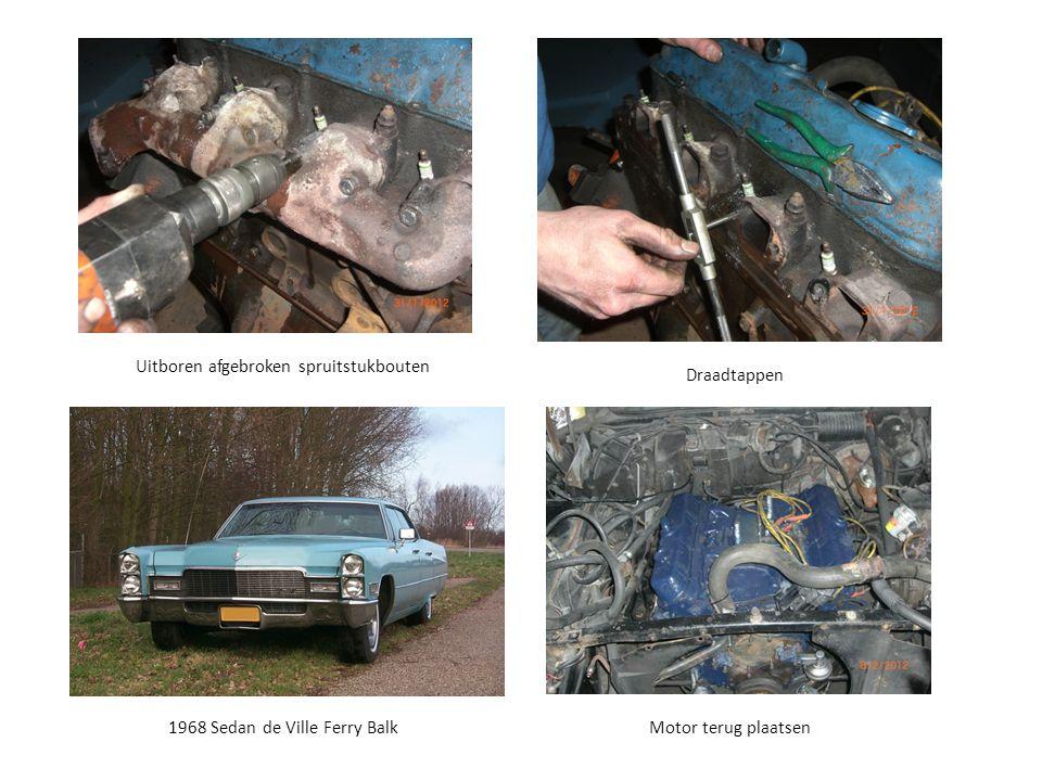 1968 Sedan de Ville Ferry Balk Uitboren afgebroken spruitstukbouten Motor terug plaatsen Draadtappen