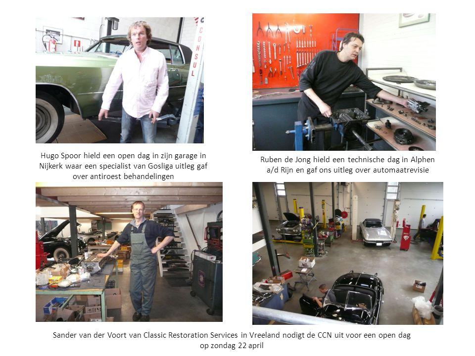 Hugo Spoor hield een open dag in zijn garage in Nijkerk waar een specialist van Gosliga uitleg gaf over antiroest behandelingen Ruben de Jong hield ee