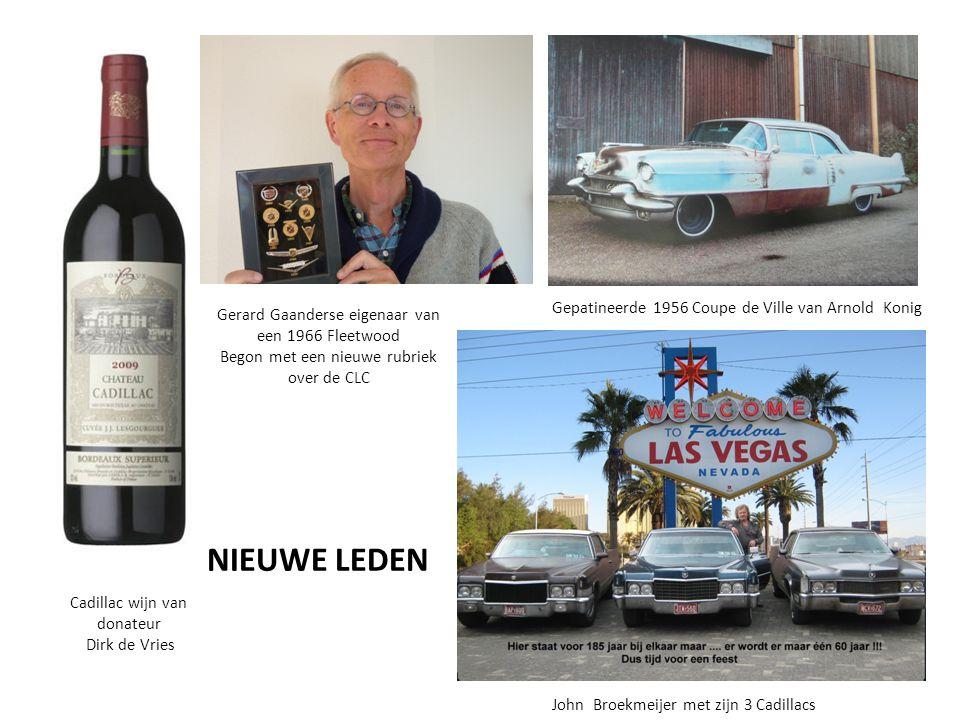 Cadillac wijn van donateur Dirk de Vries Gerard Gaanderse eigenaar van een 1966 Fleetwood Begon met een nieuwe rubriek over de CLC Gepatineerde 1956 C