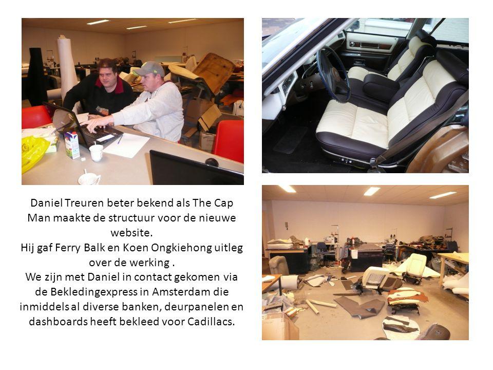 Daniel Treuren beter bekend als The Cap Man maakte de structuur voor de nieuwe website. Hij gaf Ferry Balk en Koen Ongkiehong uitleg over de werking.