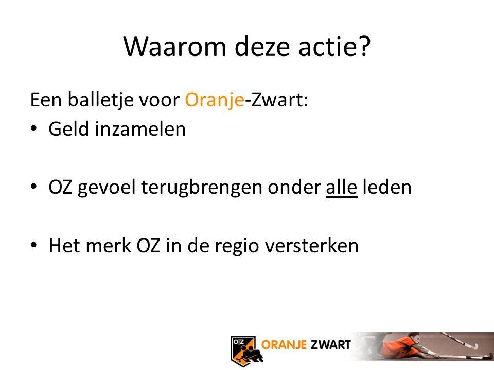 Een balletje voor Oranje-Zwart Extra inkomsten voor nog betere training en trainingsmaterialen